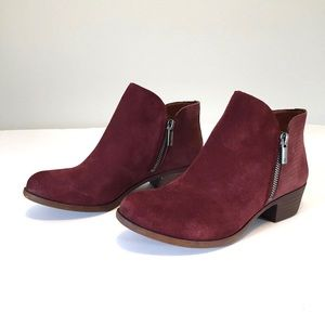 Lucky Brand Blare Suede Double Zip Ankle Boot 6M